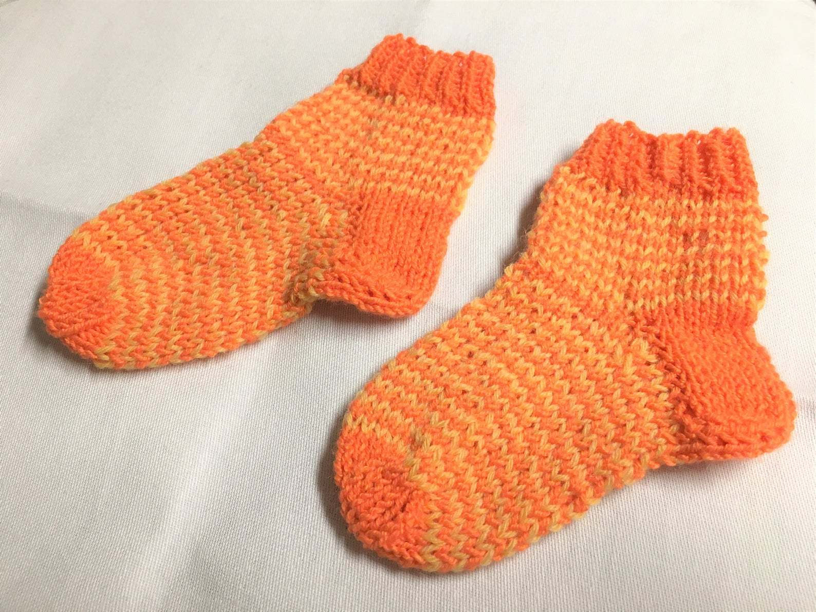 Gr._18_Socken_orange-gelb